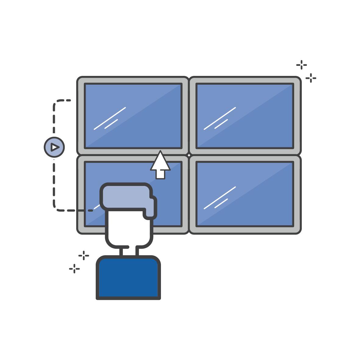 Digital Signage - Infoscreens, digitale Wegweiser und Videowände