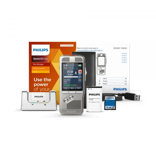 Philips PocketMemo DPM8000_DPM8200_professionelles Diktiergerät inklusive SpeechExec Pro Dictate Software I AVsolutions