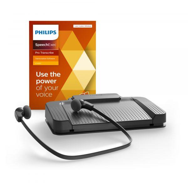 Philips Diktiersysteme Arztpraxis Krankenhaus Anwalt - Transkriptionsset - Fußschalter - Kopfhörer - Software - LFH7277 I AVsolutions